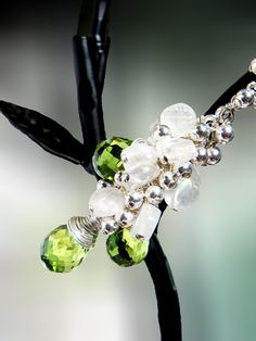 Olivine Faridate Cluster Necklace