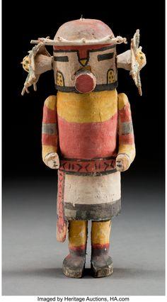 Hopi Cottonwood Kachina Doll, c. American Indian Art, Native American Indians, Art Chinois, Art Premier, Art Japonais, Southwest Art, Indigenous Art, Gourd Art, Native Art