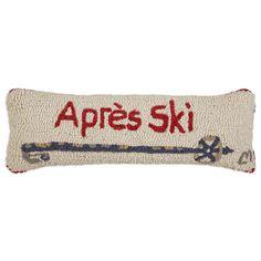 Apres Ski Pole Hooked Rectangle Pillow
