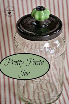 Pretty Pasta Jars make great storage! www.homeroad.net