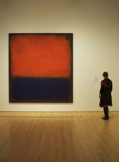 """shooteverydayplease: """" September 1, 2012 """" Rothko, Rothko, Rothko! Without a doubt Rothko's No. 14, 1960 is THE most photographed work in SFMOMA's collection."""