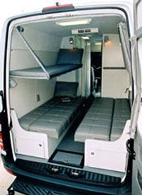 Sprinter Van Bunk Beds >> Dodge Sprinter Van Bunk Beds Sleep Four With Dinette Made Into