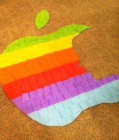 apple tissue silhouette