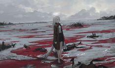 幻像黒兎@3日目東ネ06b в Твиттере: «Arrival… » Fantasy Art Landscapes, Fantasy Landscape, Character Design Animation, Character Art, Anime Military, Gothic Anime, Sad Art, Environment Concept Art, Environmental Art