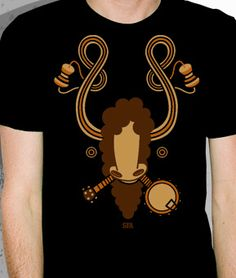Super Furry Animals goat tee by Pete Fowler Monsterism