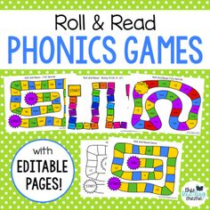 Roll and Read Phonics Games