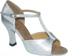 Exclusive Dance Shoes Tanzschuhe silber