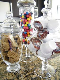 **Add to my apothecary jar collection and put fun treats in them like these!