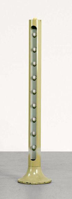 Alain Richard; Enameled Aluminum, Enameled Steel and Plastic 'Ping Pong' Floor Lamp for the Alpine Station Les Arcs, c1967.