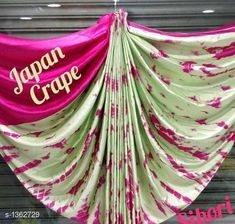 Checkout this latest Sarees Product Name: *Pretty  Heavy Japan Satin Saree* Saree Fabric: Satin Blouse: Separate Blouse Piece Blouse Fabric: Satin Pattern: Printed Multipack: Single Sizes:  Free Size Country of Origin: India Easy Returns Available In Case Of Any Issue   Catalog Rating: ★4.2 (9192)  Catalog Name: Myhra Gracious Heavy Japan Satin Sarees Vol 2 CatalogID_175606 C74-SC1004 Code: 064-1362729-1431