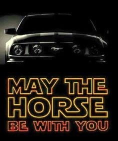 THIS IS LIKE EPIC!!!!!!!!!! STAR WARS MUSTANG(and MUSTANG is the name of one of my favorite horses names!!! ;)=AWESOMESAUCE!!!!!!!!