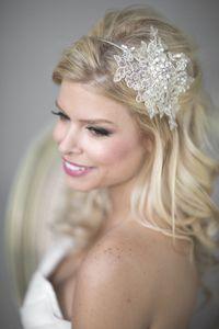 Image of Gold Lace Wedding Headband