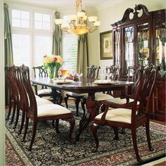 Lowest price online on all American Drew Cherry Grove Rectangular Casual Dining Set in Antique Cherry - 792-744RPKG