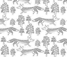 foxtrot fabric by endemic on Spoonflower - custom fabric (i would make this into a set of pillow cases with orange piping on the open end).