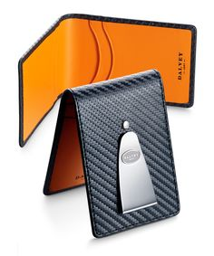 Vibrant Carbon Fibre INSIGNIA WALLET features 4 credit card slots and engraveable stainless steel money clip.