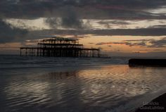 Sunset Brighton Old pier Brighton, Backpacking, Landscape Photography, Celestial, Sunset, Outdoor, Outdoors, Backpacker, Scenery Photography
