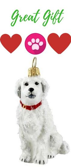 snowy great pyrenees dog ornament click now to check availability