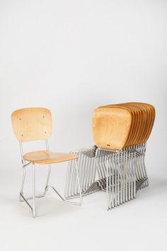 Set of 12 Armin Wirth Aluflex Chairs