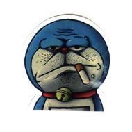 #1278 Doraemon Smoking Spoof , 7 cm, decal sticker