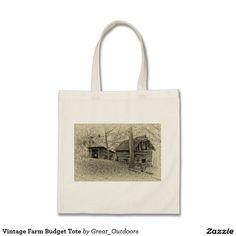 Vintage Farm Budget Tote