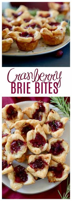 These Cranberry Brie Bites are an easy appetizer to make, festive, and perfect for your holiday party. With only three ingredients keep the focus more on friends and family instead of the food! All you need is a store bought pastry, brie and cranberry sa Easy To Make Appetizers, Cold Appetizers, Thanksgiving Appetizers, Holiday Appetizers, Italian Appetizers, Thanksgiving 2020, Brie Bites, Brie Appetizer, Appetizer Recipes