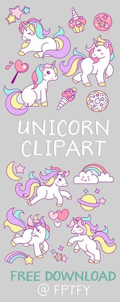 Free Hand Drawn Unicorn Clipart from Free Pretty Things for You