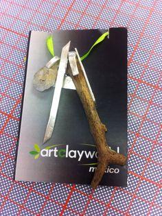 Proyecto creado con elementos de la naturaleza, minerales y #Plata999 de #ArtClay #Plataenplastilina