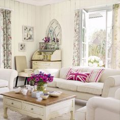 Shabby Chic Fabric Simple shabby chic living room on a budget.Shabby Chic Living Room On A Budget. Shabby Chic Living Room, Living Room White, Shabby Chic Decor, Home Living Room, Living Room Designs, Living Room Decor, Living Spaces, Living Area, White Rooms