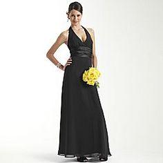 long black bridesmaid dress B'cept in blue