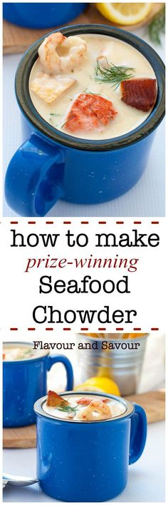 Use this recipe to learn how to make prize-winning seafood chowder using seafood that's available where you live. Rich and creamy New England style chowder!