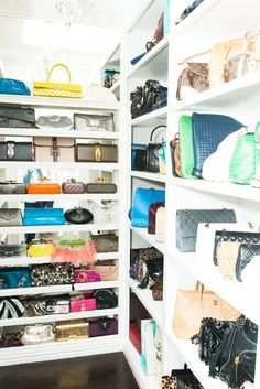 Always need more purse shelves for the closet.. Purse collections do nothing but Grow,
