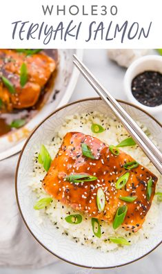 This teriyaki salmon is a quick and flavorful recipe thats compliant Naturally sweetened with coconut aminos this Chinese inspired recipe is delicious over caulif. Whole30 Salmon Recipes, Fish Recipes, Seafood Recipes, Vegetarian Recipes, Dinner Recipes, Healthy Recipes, Paleo Food, Paleo Diet, Clean Eating Vegetarian
