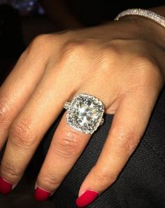 """Pin for Later: Is Nicki Minaj Engaged? See the Photos That Are Sparking Major Rumours  """"Now this is what I'm talking about baby. Lol. Love u @meekmill ~ RANG finga whr da rock iiizzzzzzzz."""""""