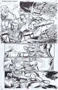 Magnus the Robot Fighter (Dynamite), Issue Page 19 Cory Smith, Comic Art, The Originals, Comics, Robot, Artist, Artists, Cartoons, Robots