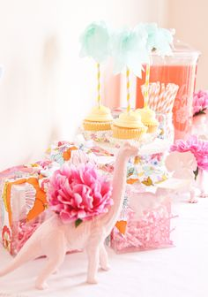 girly dino party | abby hunter for confetti sunshine
