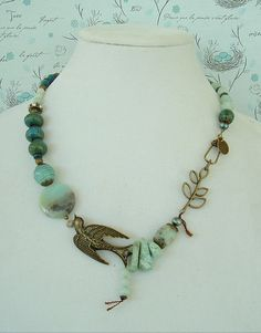 Boho Necklace Art Necklace Boho Chic Necklace by BohoStyleMe...love this design, very stunning piece.