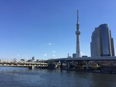 Lovely view of the Tokyo Skytree from the Sumida river.