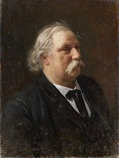 Knud Larsen Bergslien (May 15, 1827 – November 27, 1908) was a Norwegian painter, art teacher and master artist. In his art, he frequently portrayed the lives of the Norwegian people, their history and heroes of the past. Bergslien is most associated with his historical paintings, especially Skiing Birchlegs Crossing the Mountain with the Royal Child.