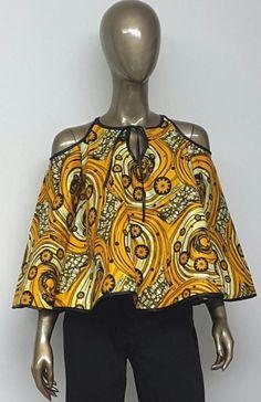 by NanayahStudio African Print Top. by NanayahStudio African Blouses, African Tops, African Women, African Inspired Fashion, African Print Fashion, Africa Fashion, African Print Dresses, African Fashion Dresses, African Dress