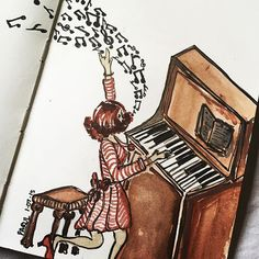 """When kids go to school, I'm like.....tatadaddalalallyyy...! #piano #music #art #watercolours #painting #artsy #artist #Instagram #beautiful #cool #colours #sketchbook #drawing #illustration #doodle @rubberband_kit #worldofartists #arts_help #support_artists22"" Photo taken by @sharmaparul_ on Instagram, pinned via the InstaPin iOS App! http://www.instapinapp.com (07/01/2015)"