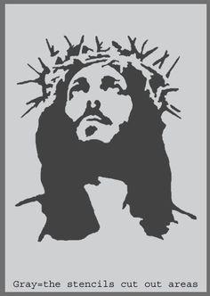 Jesus art stencil Stencils Religions Wall Art by IdealStencils Dope Cartoons, Dope Cartoon Art, Stencil Wall Art, Stencil Painting, Chucky Drawing, Jesus Drawings, Face Stencils, Jesus Face, Holy Quotes