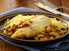 CHICKEN PARMESAN TUSCANY: From Betty Crocker.Com ~ Chicken Parmesan with a twist! Create a deliciously easy weeknight supper with our Progresso® High Fiber chicken Tuscany soup.