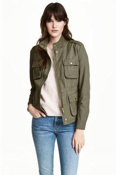 Куртка - Хаки - Женщины | H&M RU