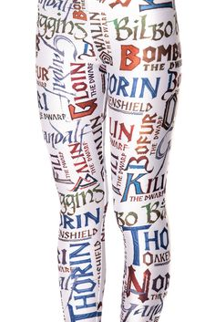 Hobbit Leggings! Need to get my friend Kacey these...and i just might get a pair myself :)