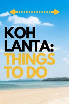 Things to do in Koh Lanta, Thailand #thailand #kohlanta #island Travel Advice, Travel Guides, Travel Tips, Travel Plan, Budget Travel, Road Trip Planner, Backpacking Asia, Vacation Destinations, Travel Around The World