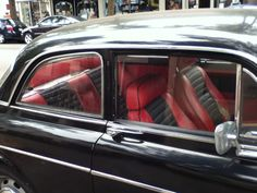 1960's Volvo Amazon, MLK Way, Berkeley    Red and black leather interior, classy!