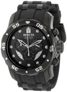 b35c9b80c67 Invicta Men s 6986 Pro Diver Collection Chronograph Black Dial Black  Polyurethane Watch Invicta