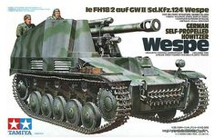 "44.00$  Watch now - http://aiow8.worlditems.win/all/product.php?id=32240174793 - ""TAMIYA 35200 1/35 Sd.Kfz.124 of Germany """"World War II Wespe"""" 105mm self-propelled howitzer model"""