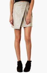 Topshop Faux Leather Skirt (Regular & Petite)