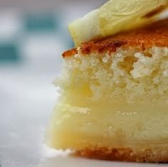 Lemon Cake-Pie | This super-easy pie bakes into a light (almost angel-food-like) cake on top of a creamy